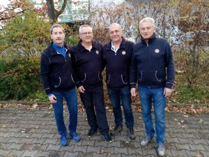 Manschaft mit v.lks. Roland, Andi, Rainer und Erich