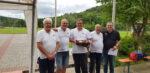 Gunzenhäuser Team mit v.lks. Walter, Rainer, Matze, Franjo und Spartenleiter Stani Selich vom TSV Binsfeld